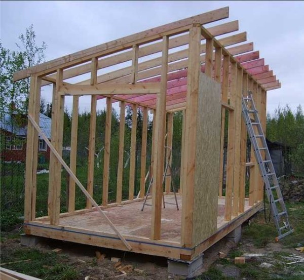 Как построить сарай поэтапно